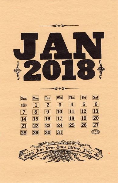 January, 2018,  The Empty Nest Press