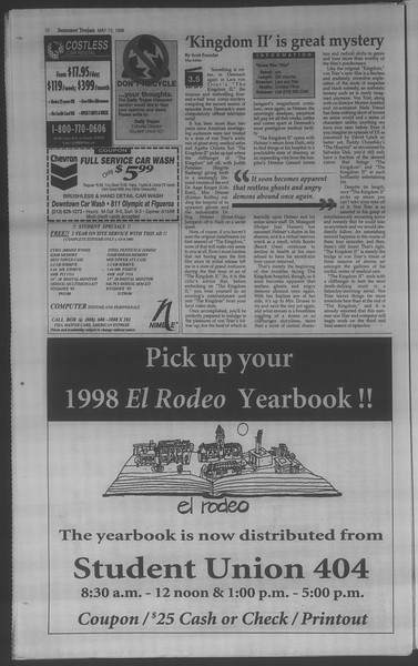 Summer Trojan, Vol. 134, No. 1, May 13, 1998