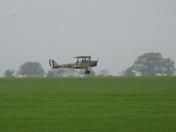 Tiger Moth landing