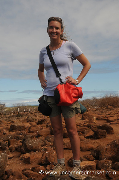 Audrey in the Galapagos