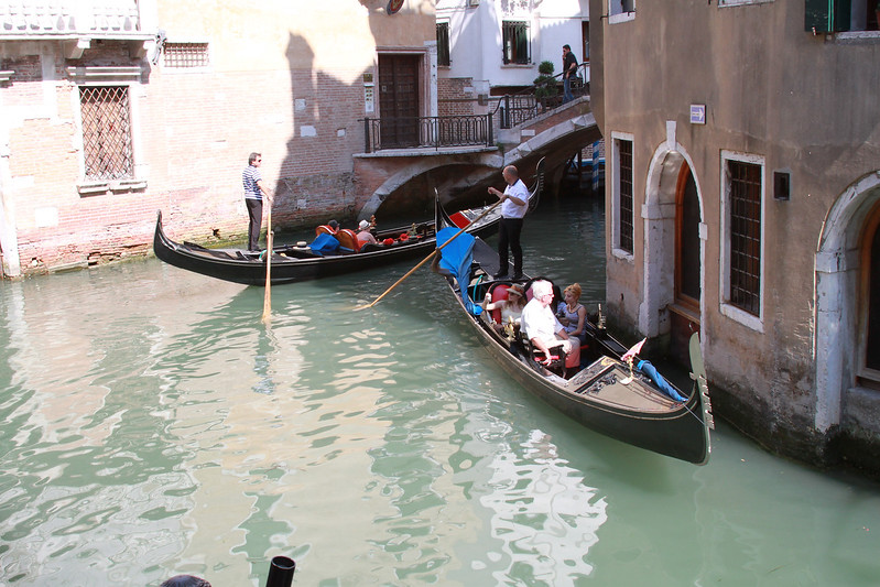 The gondolas.