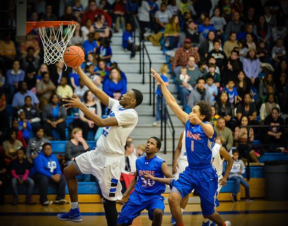 Basketball Varsity Boys vs  Bowie 01-28-14-13