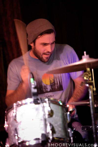 Alex Westcoat performs with David Bazan on November 30, 2011 at Crowbar in Tampa, Florida