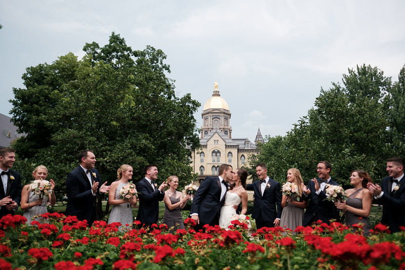 Wedding Photos at Notre Dame