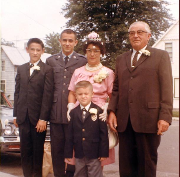 The Rutkowske's at Edwin & Linda's Wedding July 1963.JPG