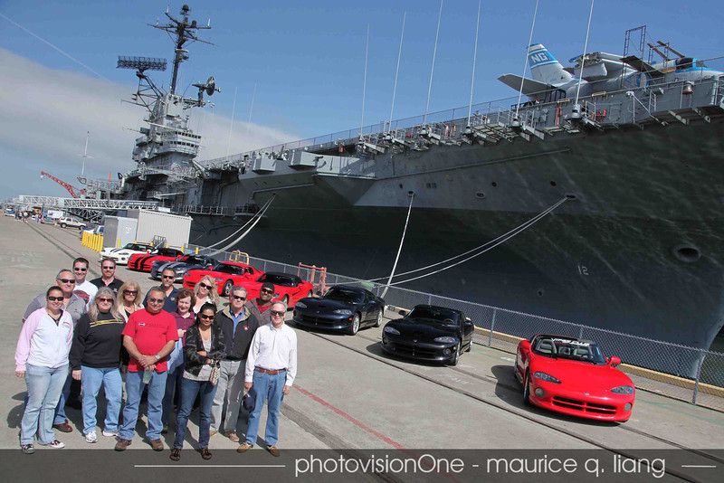 Viper Club in front of the USS Hornet.