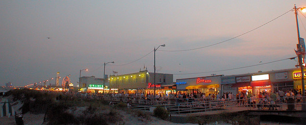Ocean City NJ Boardwalk at dusk