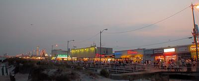 Ocean City NJ Boardwalk at dusk