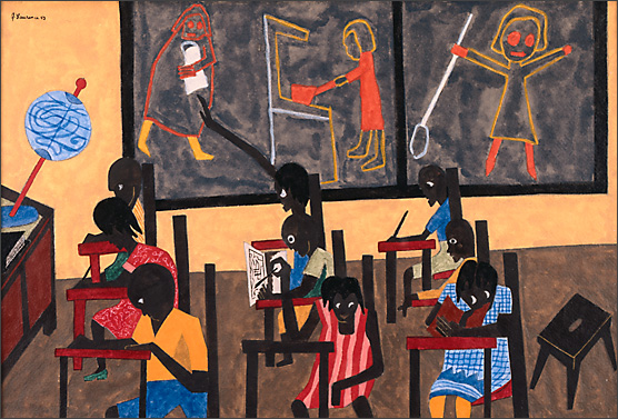 "Jacob Lawrence, ""The Children Go to School"" (1943)"
