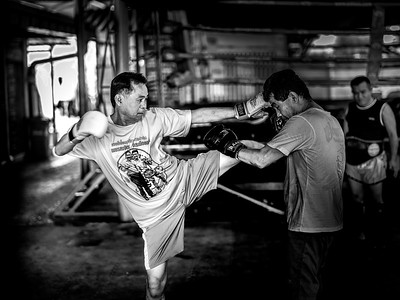 Training With the Head Kick Master Jampatong