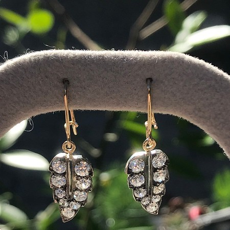 1.85ctw Victorian Leaf Component Earrings