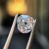 1.03ct Antique Pear/Heart Shape Diamond GIA F VS2 5