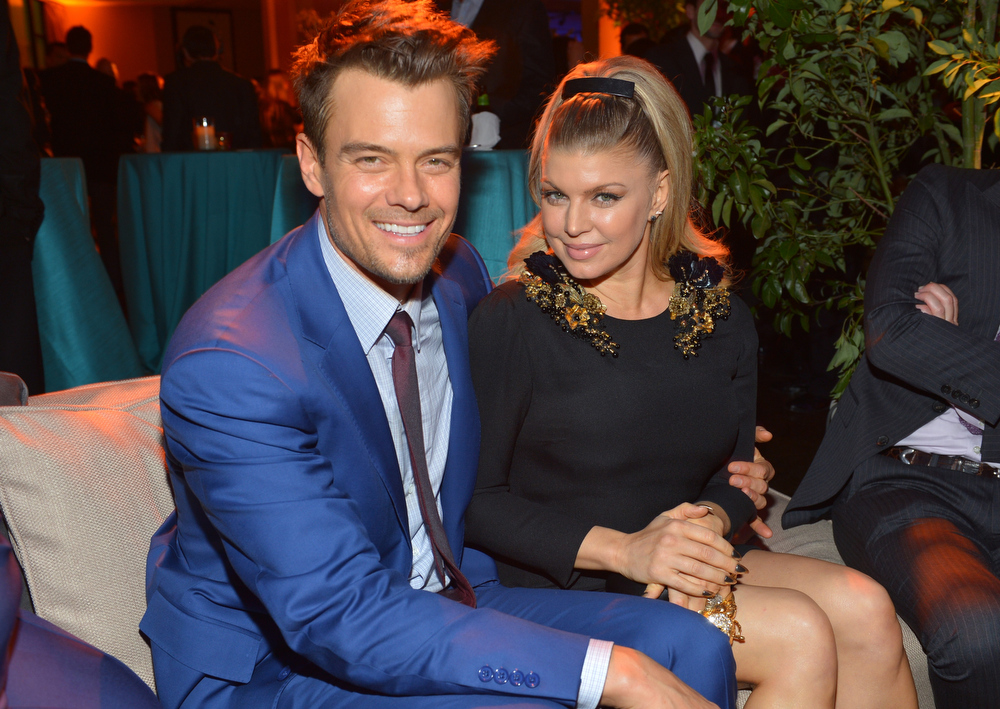 ". Actor Josh Duhamel (L) and actress/singer Fergie attend the premiere of Relativity Media\'s ""Safe Haven\"" after party at The Terrace At Hollywood & Highland on February 5, 2013 in Hollywood, California.  (Photo by Alberto E. Rodriguez/Getty Images for Relativity Media)"