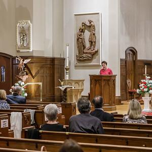 Blessing of Saint Michael the Archangel Statue - Saint Mary, Longmeadow