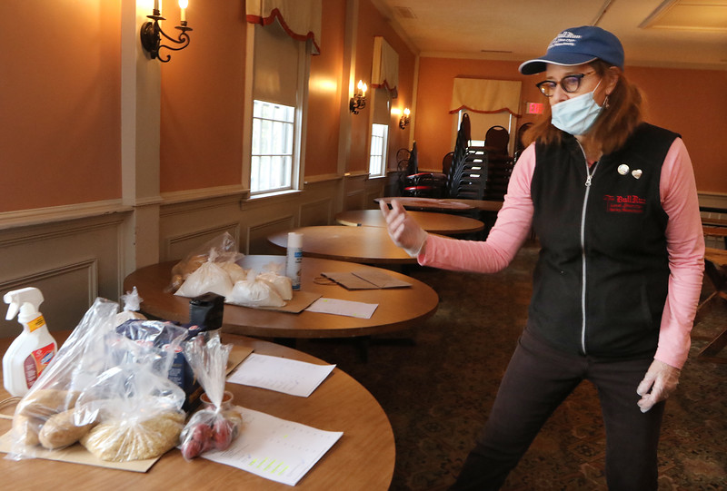 The Bull Run owner Alison Tocci, at the restaurant in Shirley. They've adapted to the Covid-19 pandemic by offering takeout, including ingredients. Flour for baking is popular.  (SUN/Julia Malakie) (SUN/Julia Malakie)