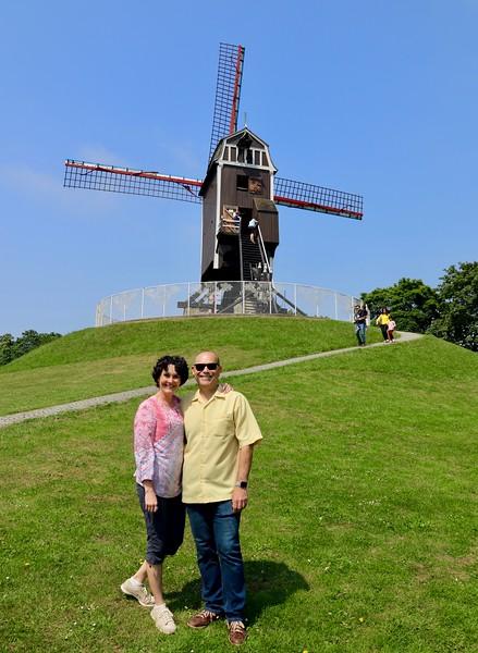St. Janshuys Windmill, built in 1770 - Bruges, Belgium