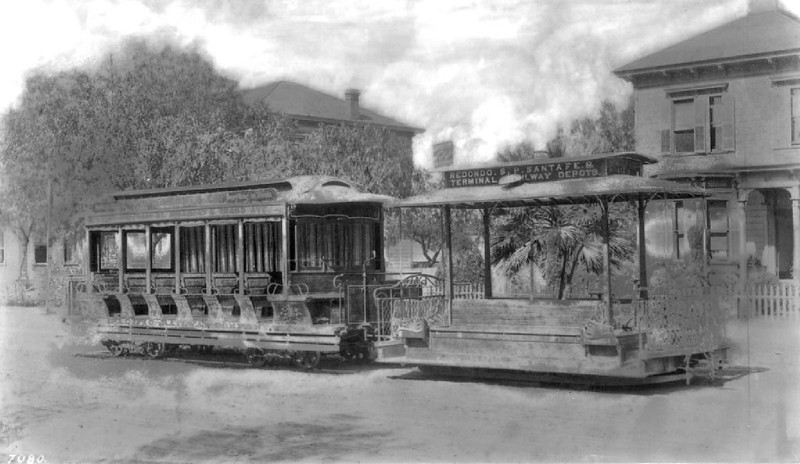 Grand Avenue cable car looking south on Grand Avenue, Los Angeles, ca.1889