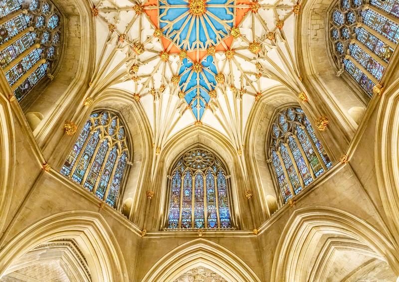 Ornate Apse ceiling , Tewksbury Abbey, Gloucestershire