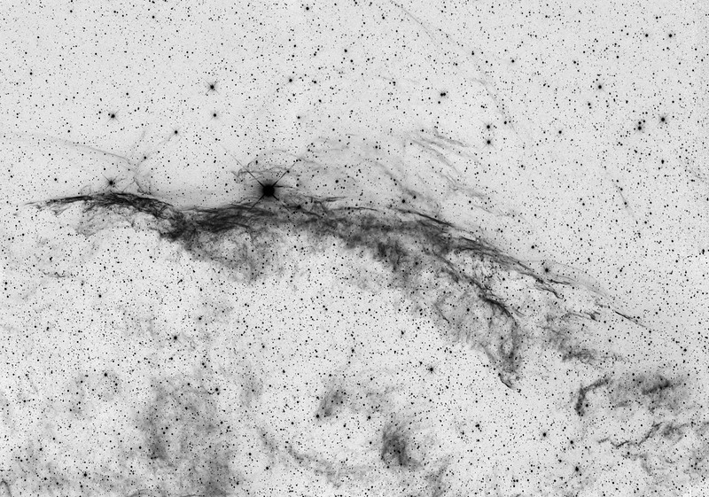 NGC-6960 H-Alpha mozaïek van 4 panelen