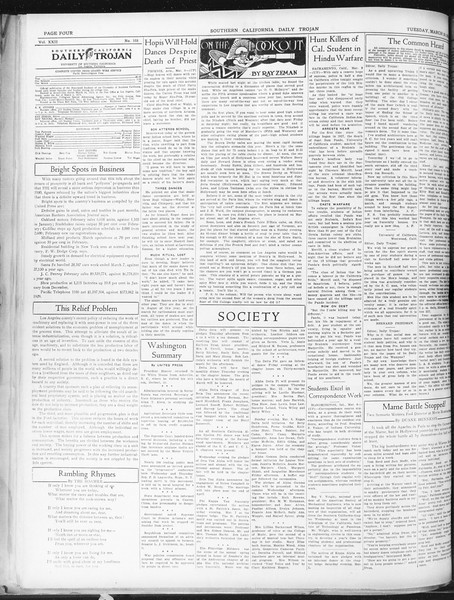 Daily Trojan, Vol. 22, No. 103, March 10, 1931