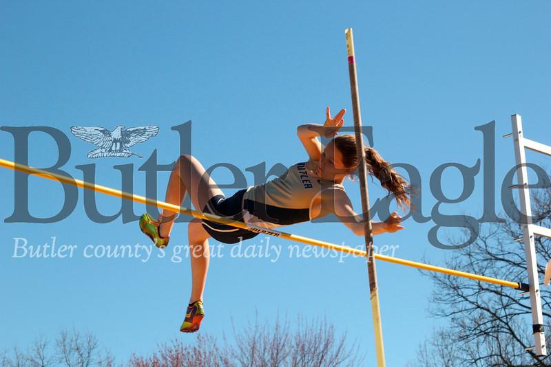 Girls pole vault Butler at North Allegheny 4/9
