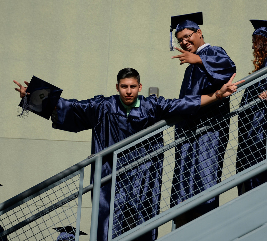 . June 6,2014 PANORAMA city, California. Grads make their way to the field during the Panorama High graduating class of 2014. Photo by Gene Blevins/LA Daily News