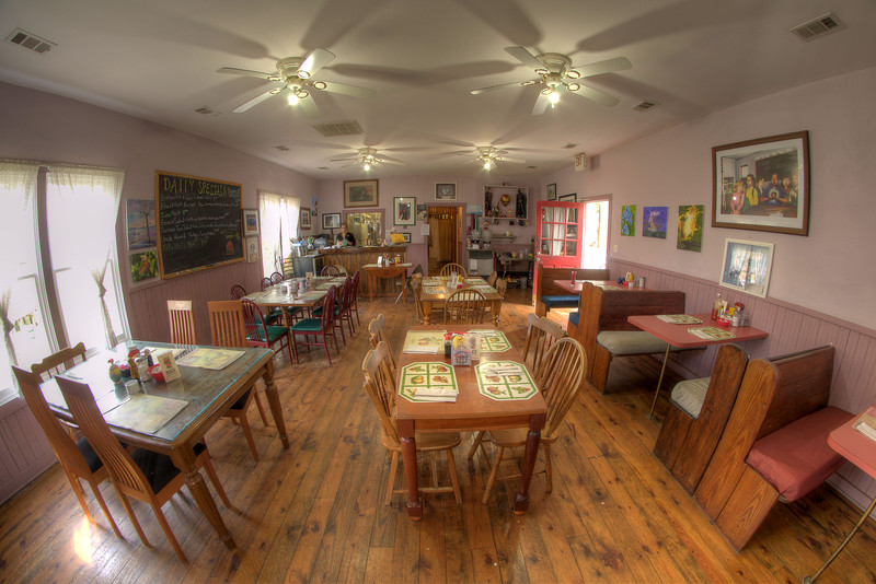 The small one-room schoolhouse that now serves as Mikki's Schoolhouse Diner in Port Royal, SC on Saturday, February 21, 2015. Copyright 2015 Jason Barnette  Mikki's Schoolhouse Diner is a locally owned restaurant located inside an old one-room schoolhouse. The schoolhouse was moved to it's current location in a small shopping village in Port Royal from nearby Yemassee. The restaurant is owned and operated by Mikki and Jeff Rolaine, along with Jeff's daughter Arastatia, making it a truly family operated business.