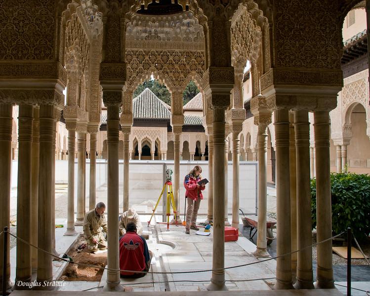 Fri 3/11 at La Alhambra in Grenada: At work