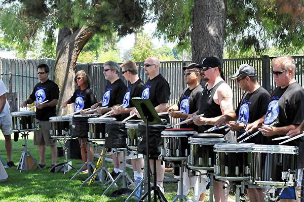 Blue Phoenix Drumline. Parkfest, July 2010