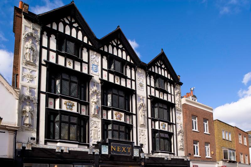 Historic Tudor style house overlooking Market Place, Kingston upon Thames, Surrey, United KIngdom