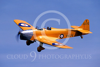 Flying British RAF Miles M14A Magister Airplane Pictures