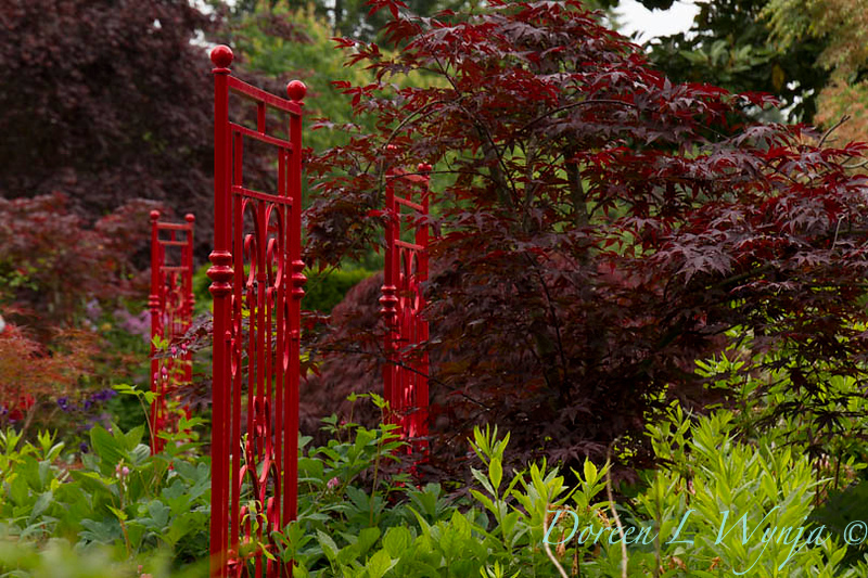 Red wrought iron garden accents_5495.jpg