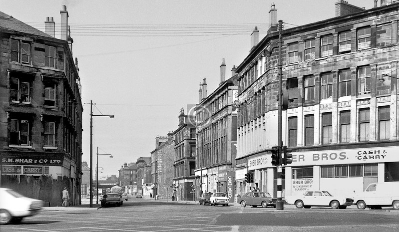 Norfolk St from the Cross.    April 1973