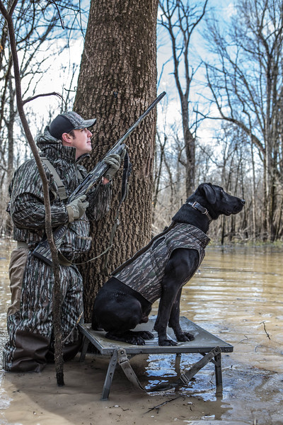 Tyler Jordan and Mo hunting the Arkansas flooded  timber.