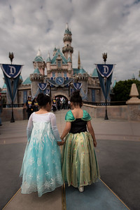 Frances and Gianna at Disneyland