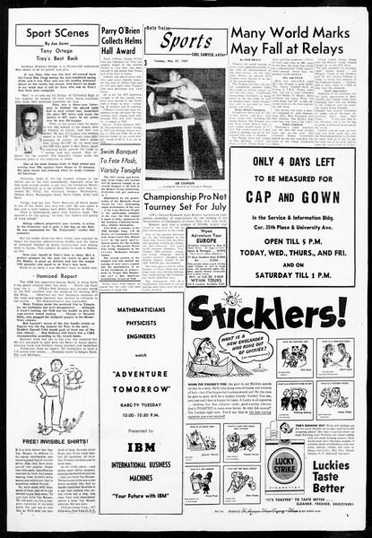 Daily Trojan, Vol. 48, No. 135, May 21, 1957