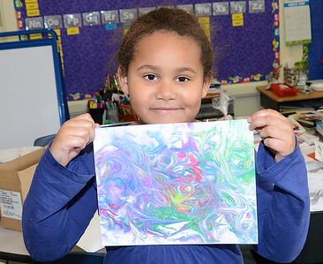 First Grade Marble Paper Art photos by Gary Baker