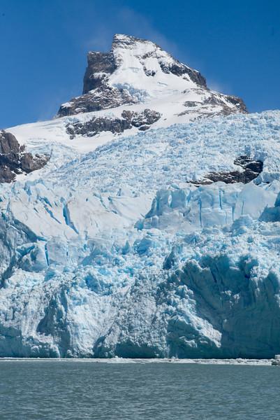 Snowy mountain at Lake Argentino, Los Glaciares National Park, Santa Cruz Province, Patagonia, Argentina