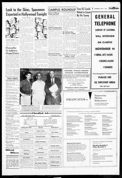 Daily Trojan, Vol. 48, No. 34, November 07, 1956