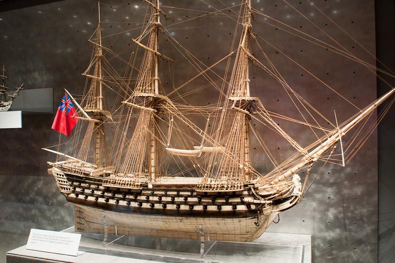 2009-10-03 - USNA Museum - 221 - French Prisoner-of-War Bone Ship Model - _DSC7625.jpg