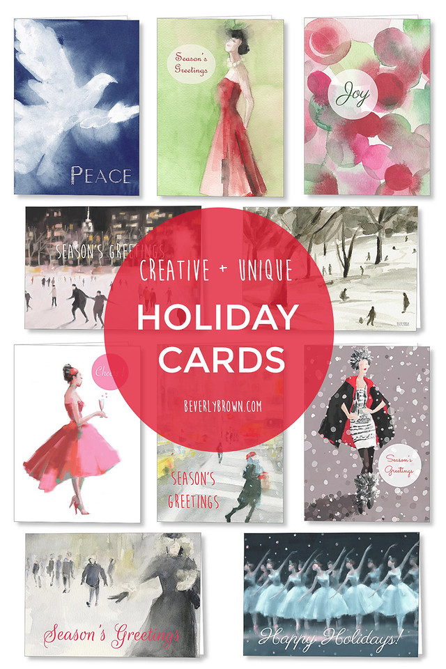 Fine Art Holiday Greeting Cards by Artist Beverly Brown.