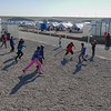 Iraqi children who left everything behind in Mosul, play football at NRC's education center in Hassan sham where children can play, learn and grow. <br /> <br /> Date: