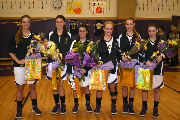 Senior Night vs New Brunswick for Ladies Basketball, Feb 6, 2012