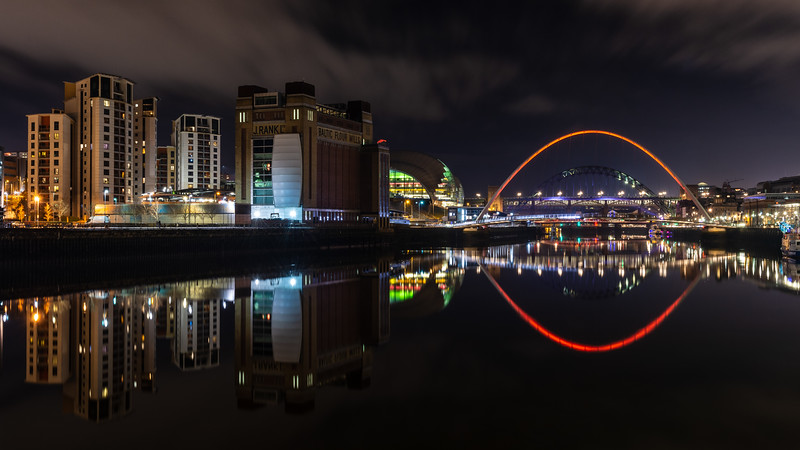 Gateshead Quays at night