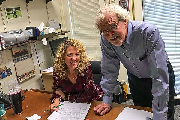 Brenda Austin and David Weck at Hope Publishing