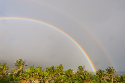 Double Rainbow December 2013, Cynthia Meyer, Maui, Hawaii