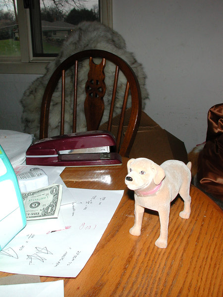 Stormie says...a dollar and a dog!