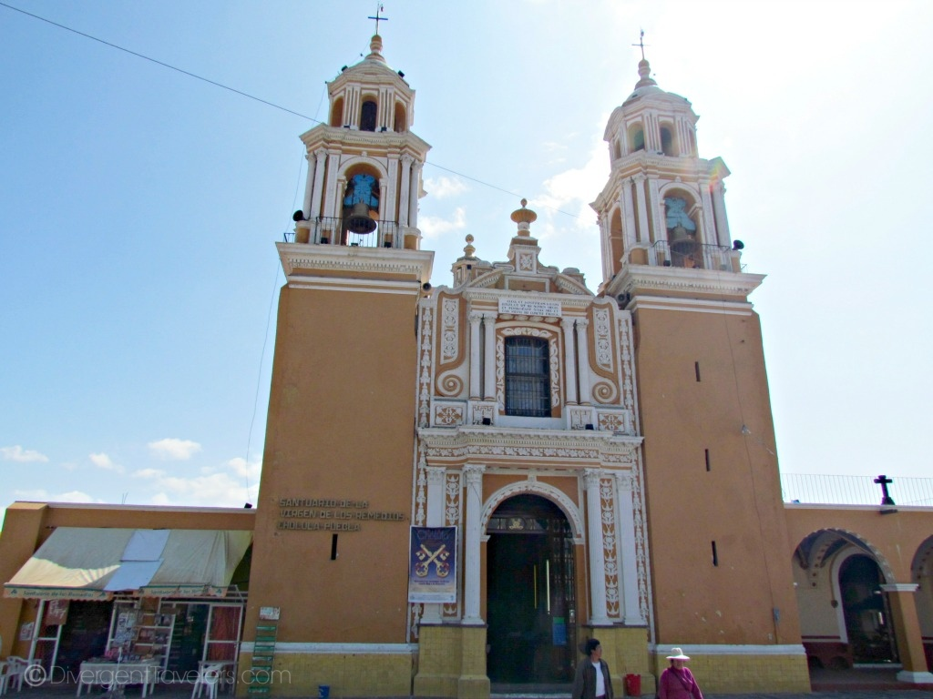 Cholula cathedral in Mexico