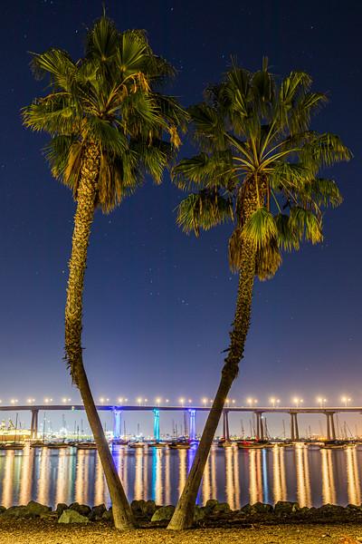 San Diego-Coronado Bay Bridge Lighting Project Test