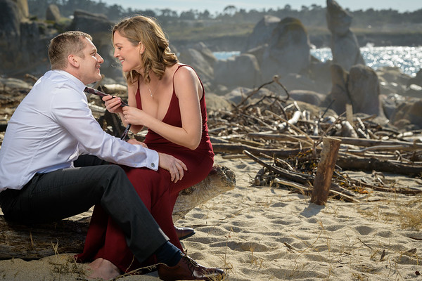 Julie and Barry Engagement @ Wedding Rock / Carmel Beach